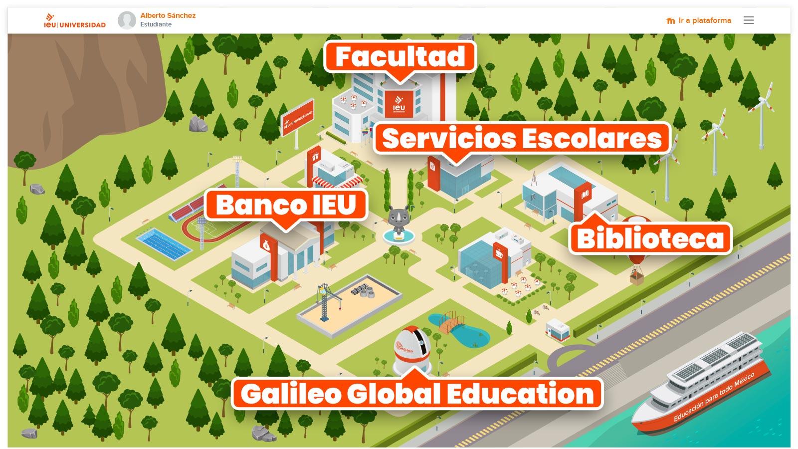 Mapa Campus Online Universidad Ieu